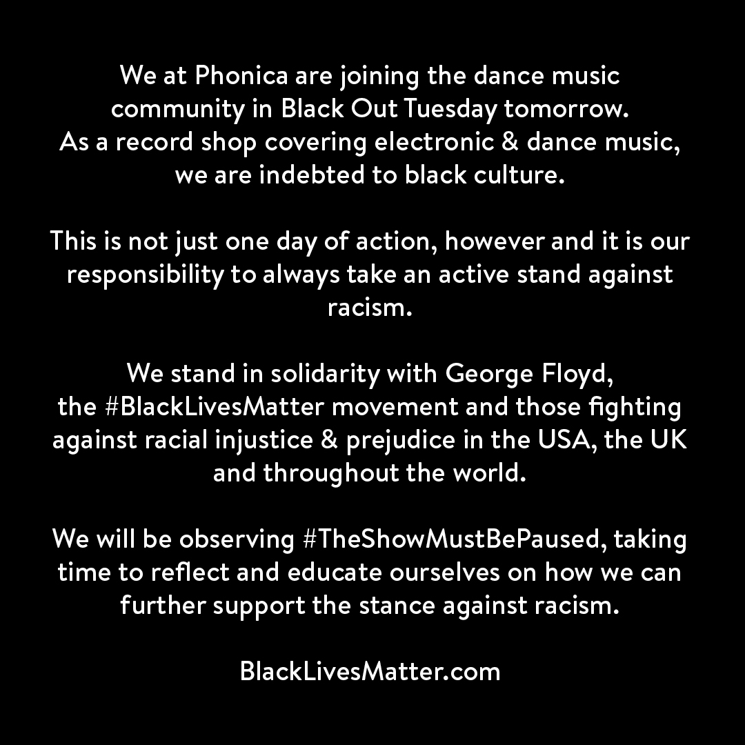 Phonica Black Out Tuesday